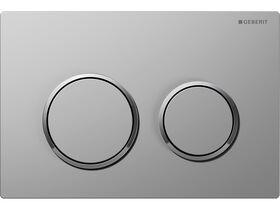Geberit Omega 20 Dual Flush Button Satin/ Chrome/ Satin