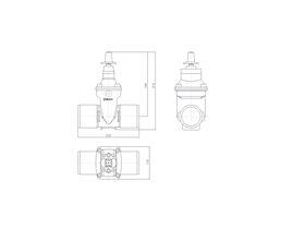 Line Drawing - 100 DIMAX SPIG PN16 RS GATE VALVE