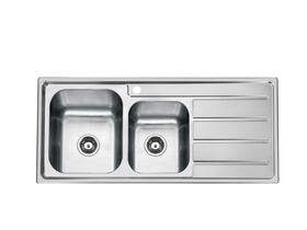 Posh Solus MK3 1 3/4 Bowl Inset Sink, 1 Taphole, Left Hand Bowl Stainless Steel