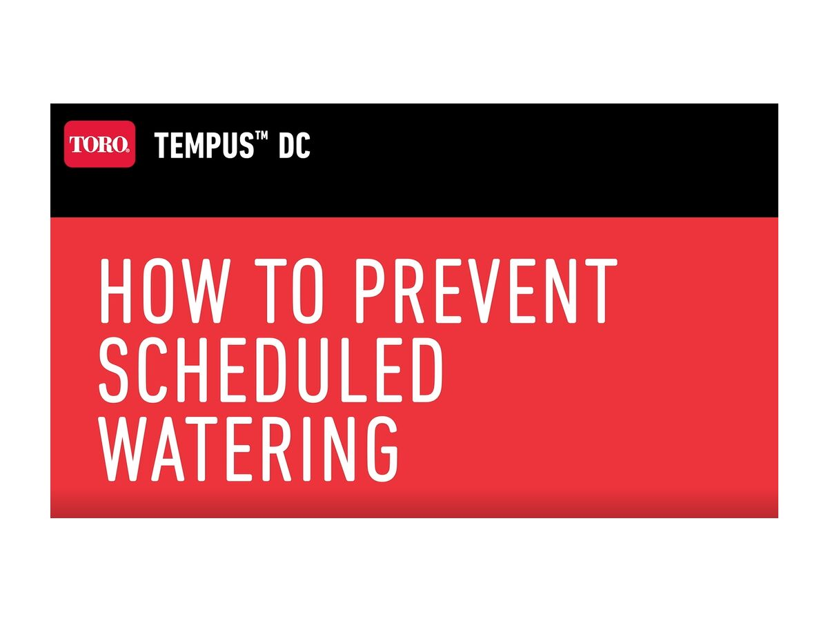 How to Prevent Scheduled Watering