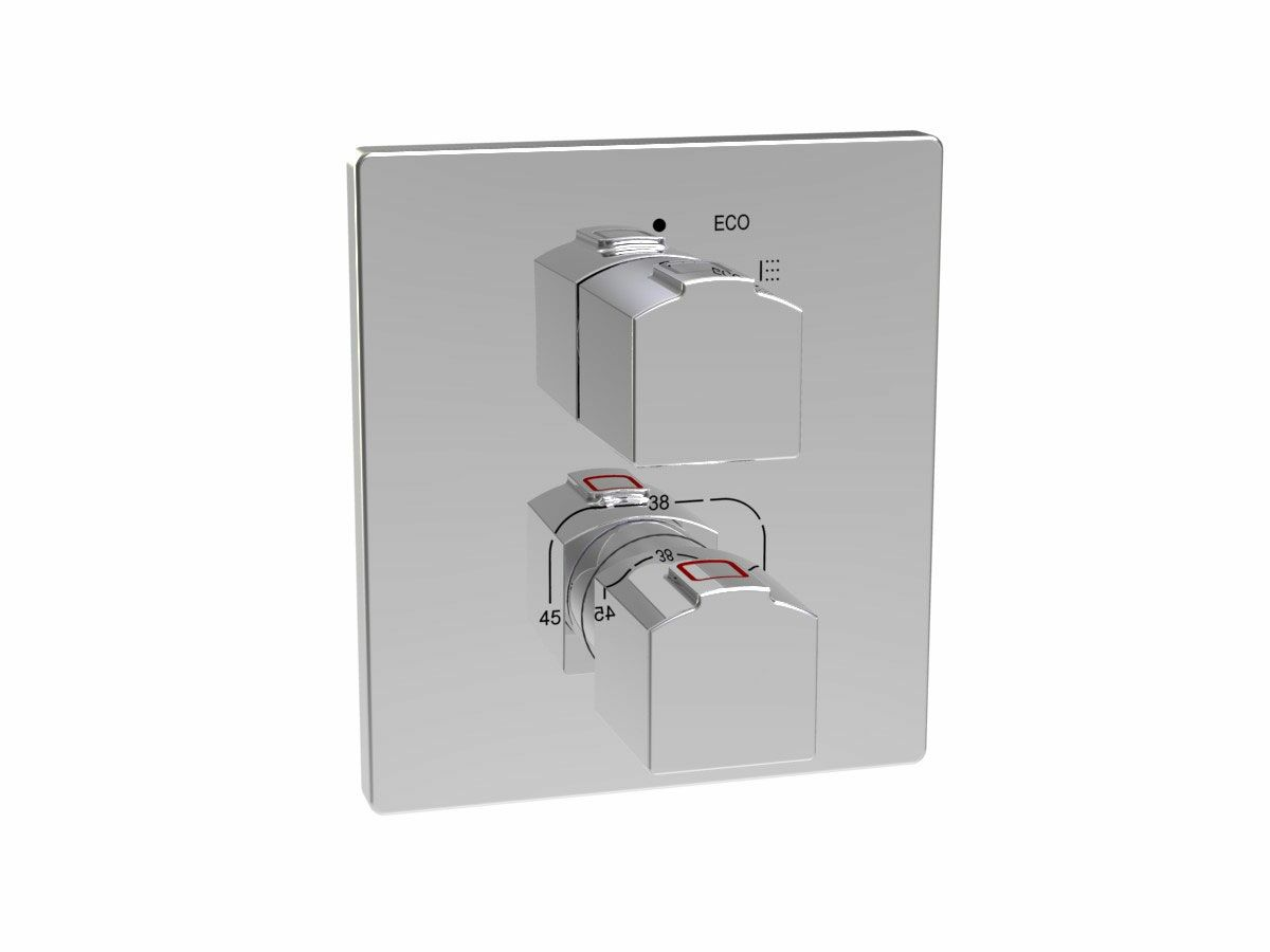 Roca L90-T Concealed Thermostatic Shower Mixer Chrome