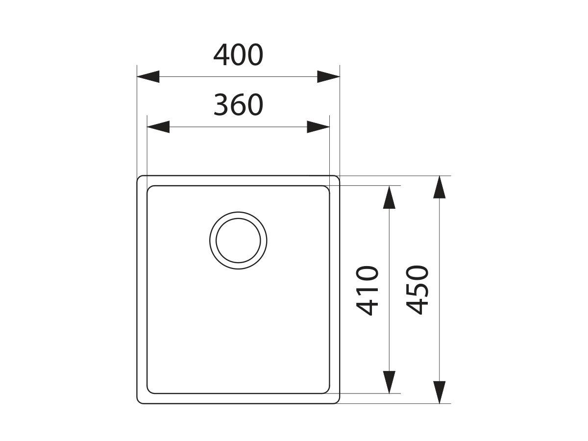 Franke Bow BXX210-36 Single Bowl Inset/Undermount/Flushmount Sink Pack Stainless Steel