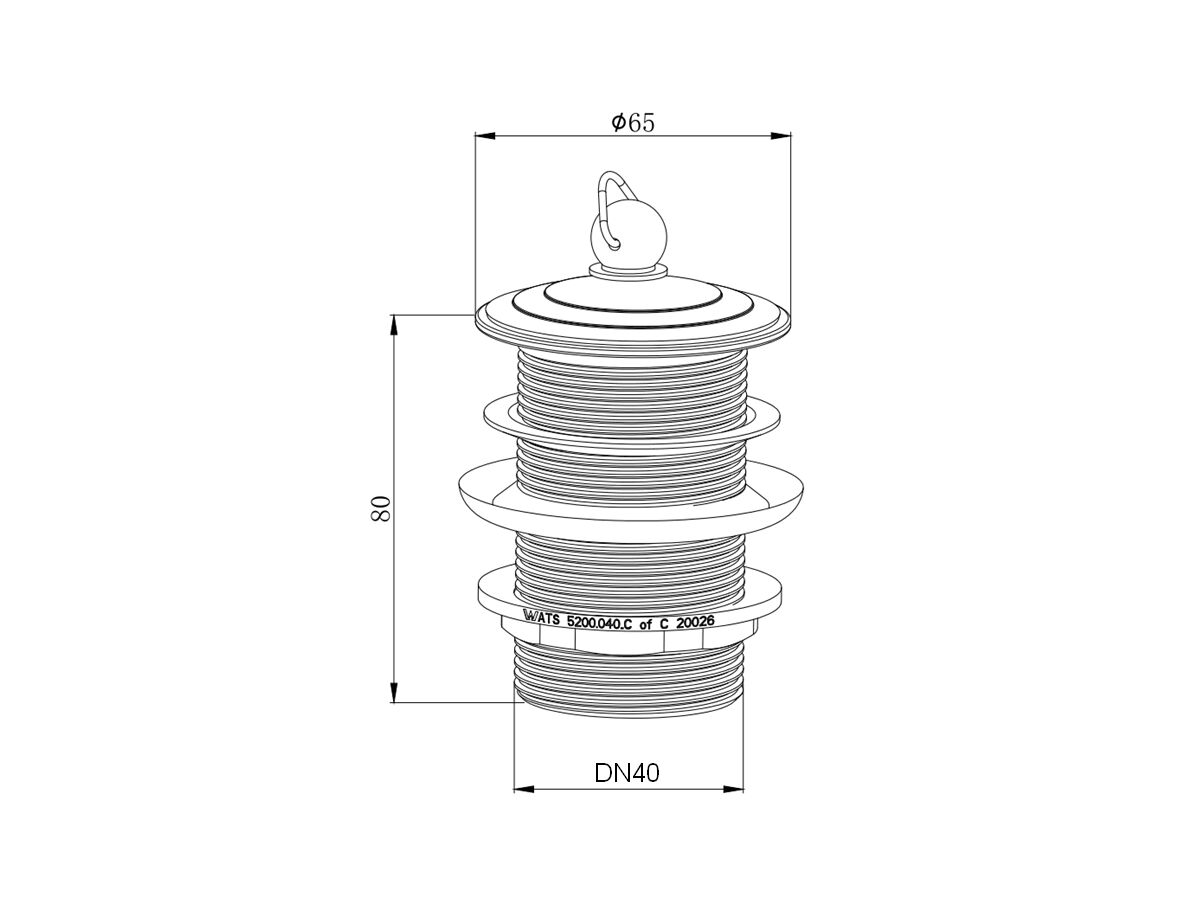 Posh Plug and Waste 40mm Chrome Plated (Chrome Plated Plug and Chrome Plated Post)