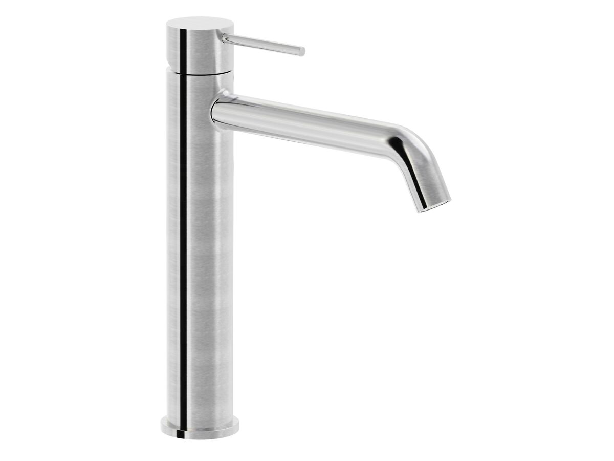 Milli Inox Extended Basin Mixer Stainless Steel (5 Star)