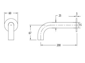 Milli Pure Wall Basin Outlet 200mm (3 Star)
