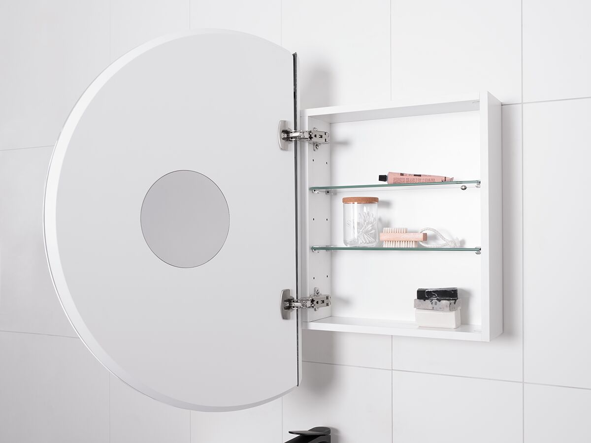 Kado Lux Round Mirrored Shaving Cabinet 800mm From Reece
