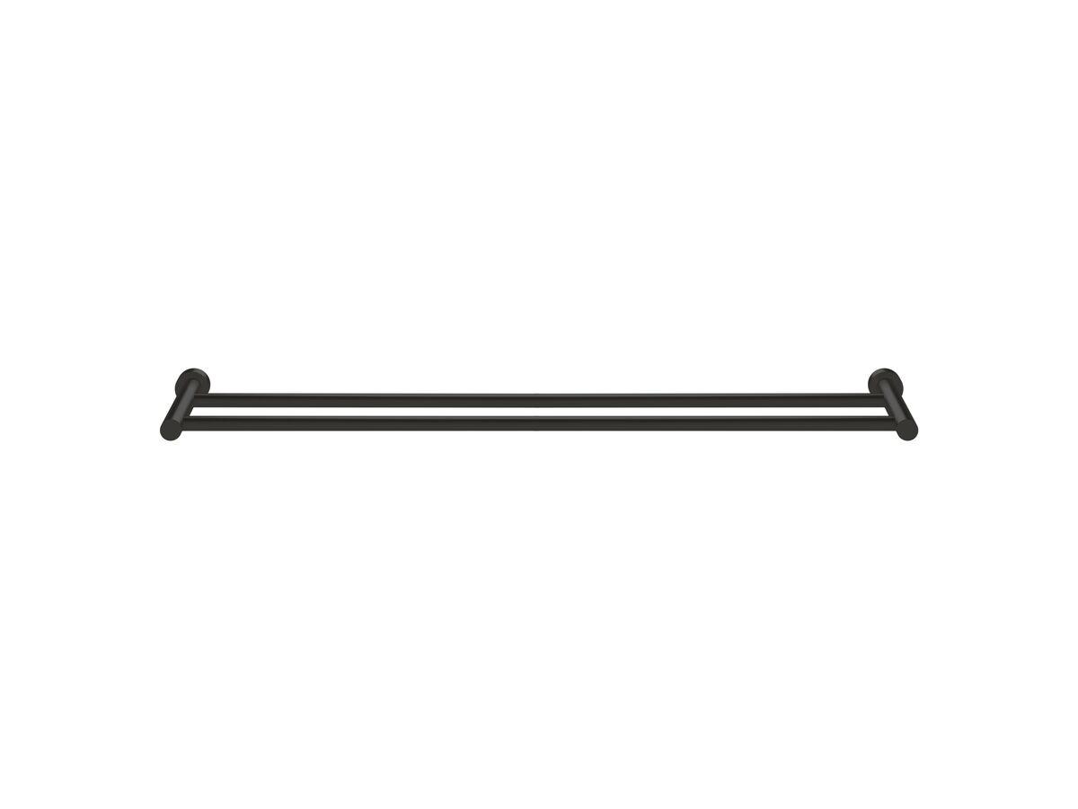 Scala Double Towel Rail 900mm LUX PVD Matte Opium Black