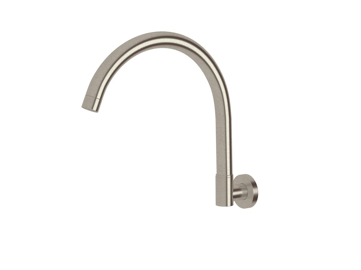 Scala Wall Spa Outlet Curved LUX PVD Brushed Oyster Nickel