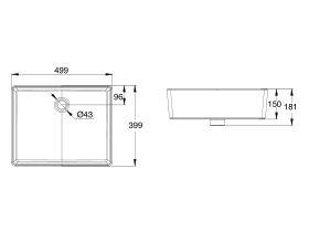 American Standard Heron Square Vessel Basin No Taphole White