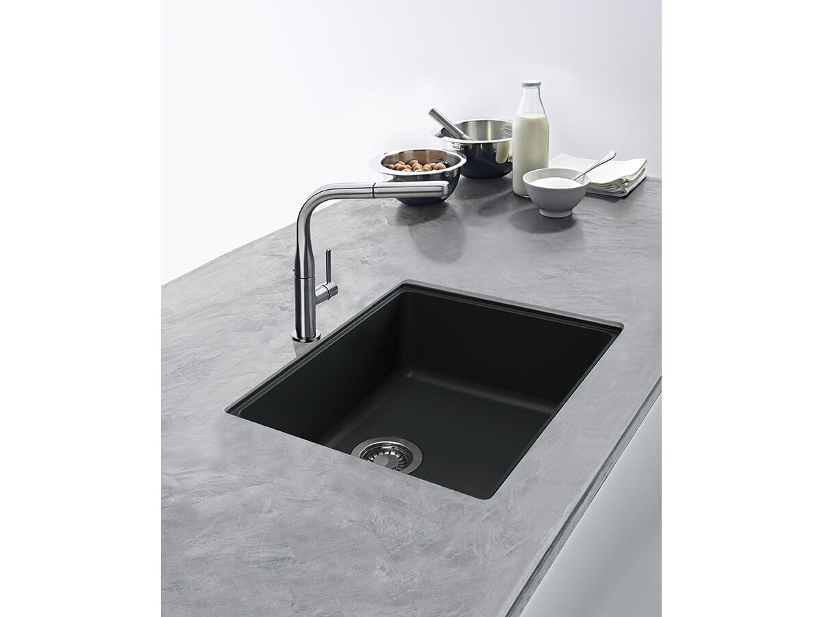Franke Impact Granite IMG110-50 Single Bowl Undermount Sink Onyx