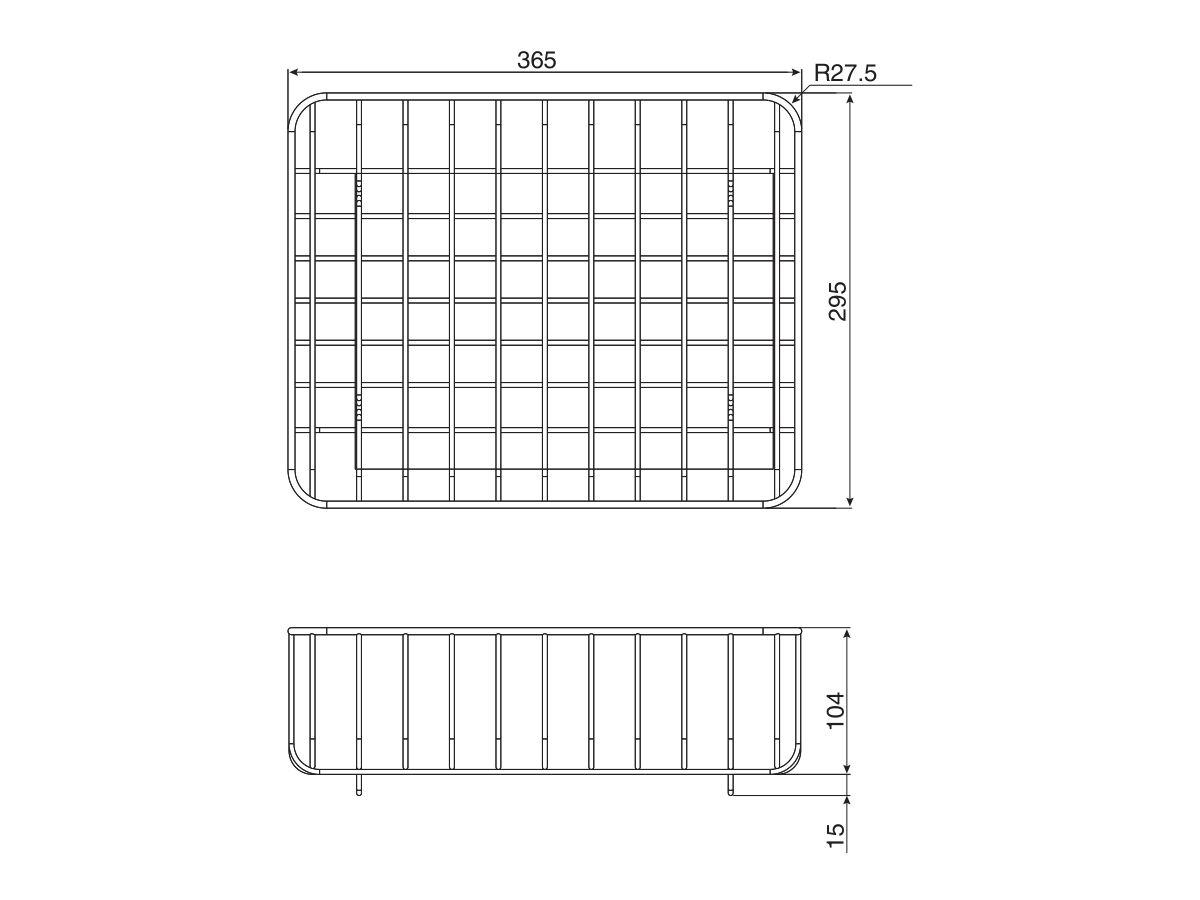 AFA Universal Dish Wire Basket Stainless Steel