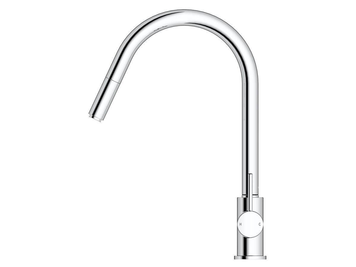 Mizu Drift MK2 Gooseneck Pull Out Sink Mixer Tap Chrome (4 Star)
