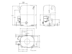 Tecumseh Compressor 6hp R22 MHBP TAG5568E TUBE