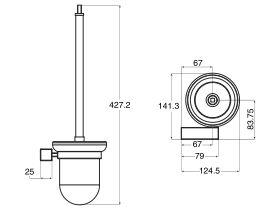 Mizu Bloc MK2 Toilet Brush Set Chrome