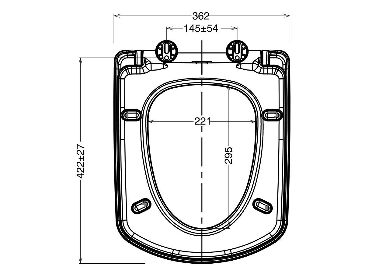 Roca Dama Senso Compact MK2 Soft Close Quick Release Seat White/Chrome