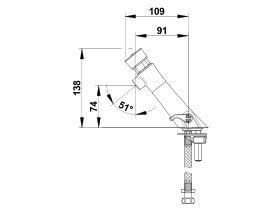 Wolfen Timed-Flow Basin Mixer