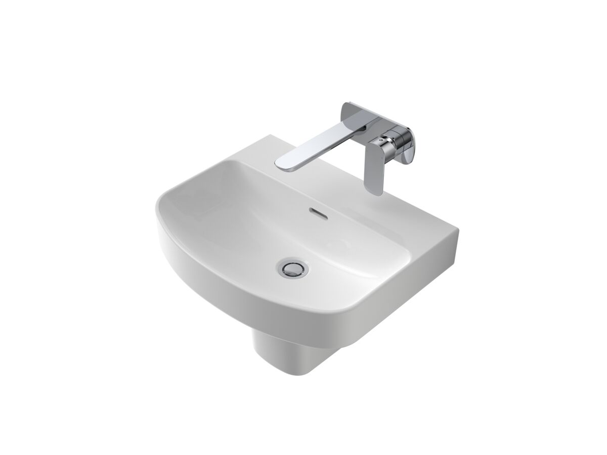 Caroma Forma 500mm Wall Basin No Taphole with Overflow