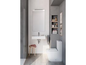Roca Inspira Rimless Close Coupled Back To Wall Toilet Suite Back Inlet Soft Close Quick Release Seat White (4 Star)