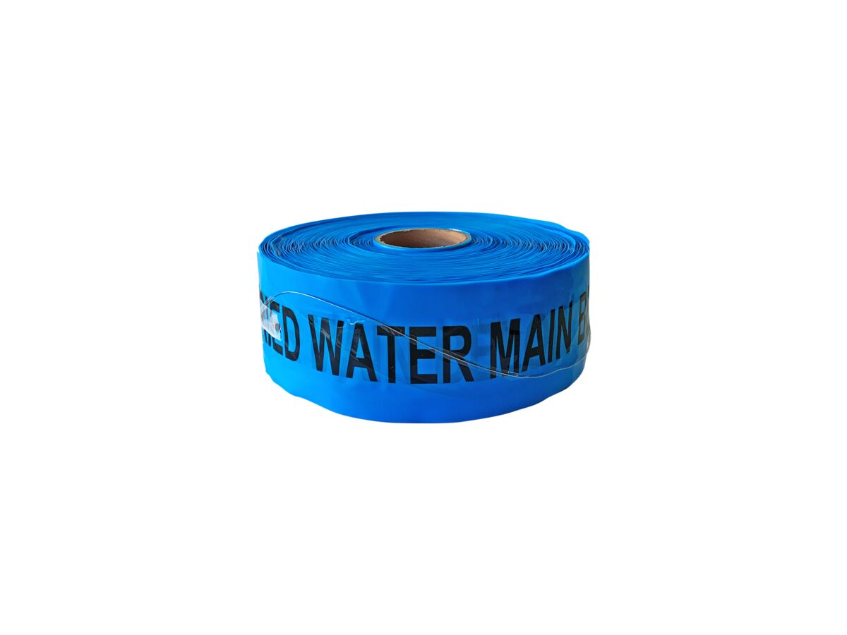 Bl Detect Tape Water Main Blue 100mm x 250mtr