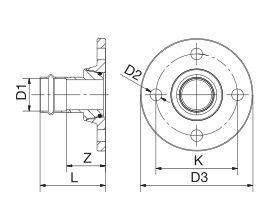 B-Press Flange Adaptor Table E