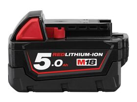 Milwaukee Red Lithium Battery Pack 5.0AH 18 Volt