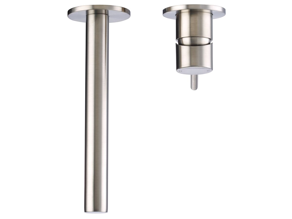 Mizu Drift MK2 Wall Mixer Set with 2 Cover Plate Design Brushed Nickel