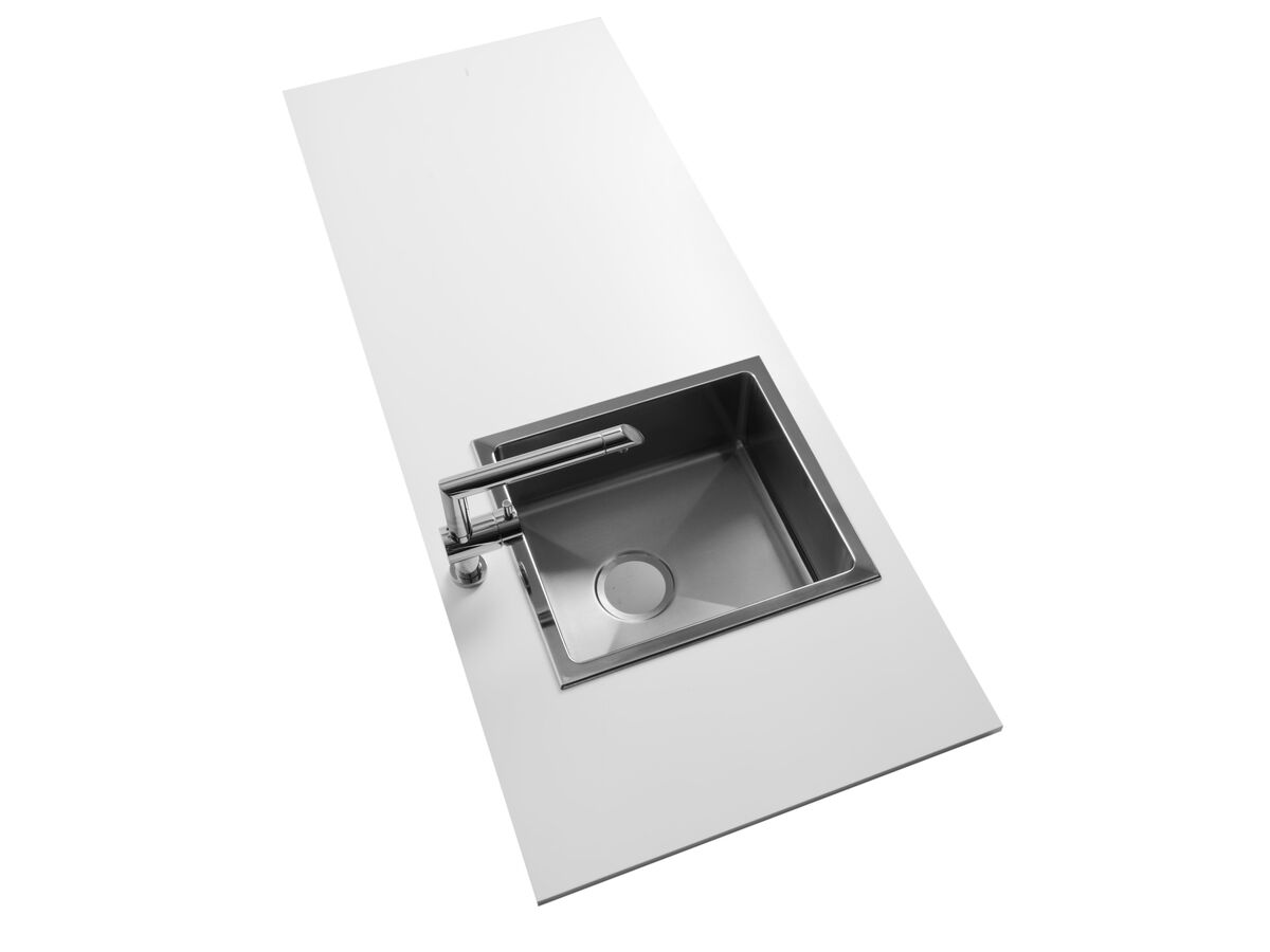 AFA Exact Single Bowl Inset/ Undermount Sink No Taphole 404mm Stainless Steel