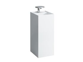 Laufen Kartell Freestanding Basin / Pedestal with Overflow 375 x 435 x 900mm 1 Taphole White