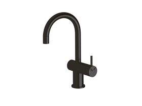 Scala Mini Basin / Sink Mixer Tap Small Curved Right Hand LUX PVD Matte Opium Black (5 Star)