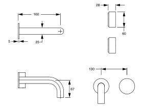 Milli Pure Progressive Bath Mixer Tap System 160mm