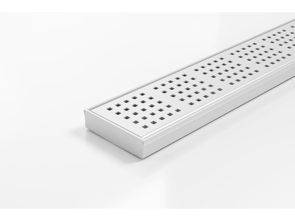 Kado Lux Square Shower Channel Kit Matte White