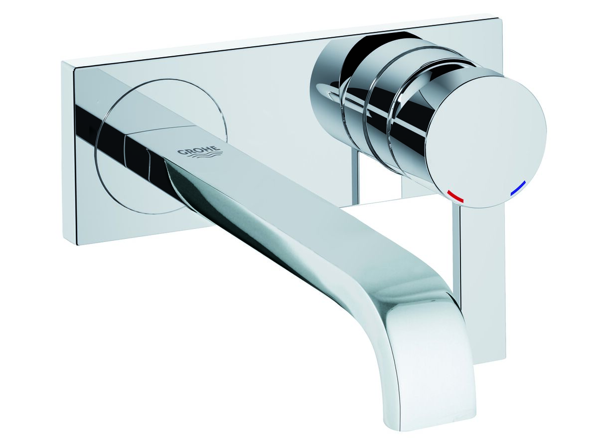 Grohe Allure Wall Bath Mixer Set Trimset Chrome