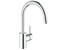 GROHE Concetto Gooseneck Pull Out Sink Mixer Tap Chrome (5 Star)