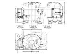 Tecumseh Compressor 3/8hp R134 LBP AE2413Y-FZ1A