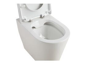Kado Lux Back To Wall Rimless Overheight Pan with Soft Close Quick Release Seat (4 Star)