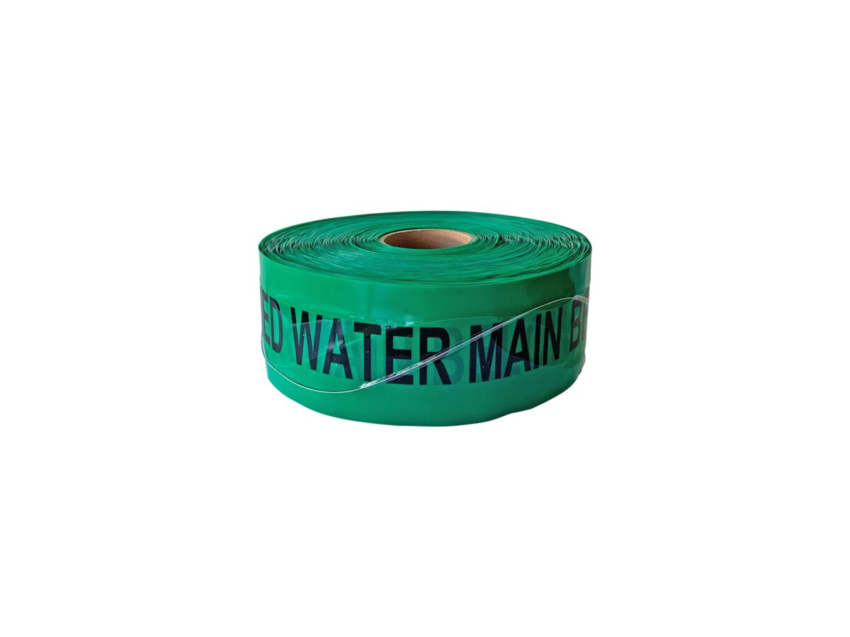 Bridgland Detectable Tape Watermain Green 100mm x 250mtr