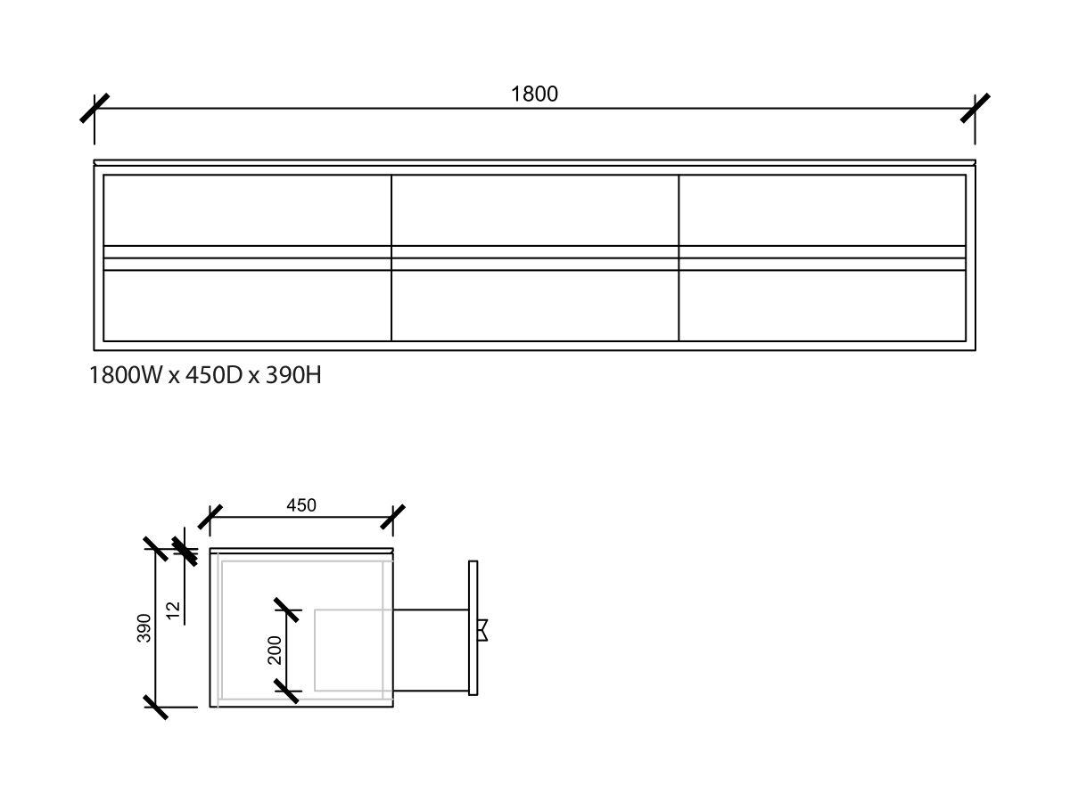 Issy Z8 6 Drawer Vanity 1800mm