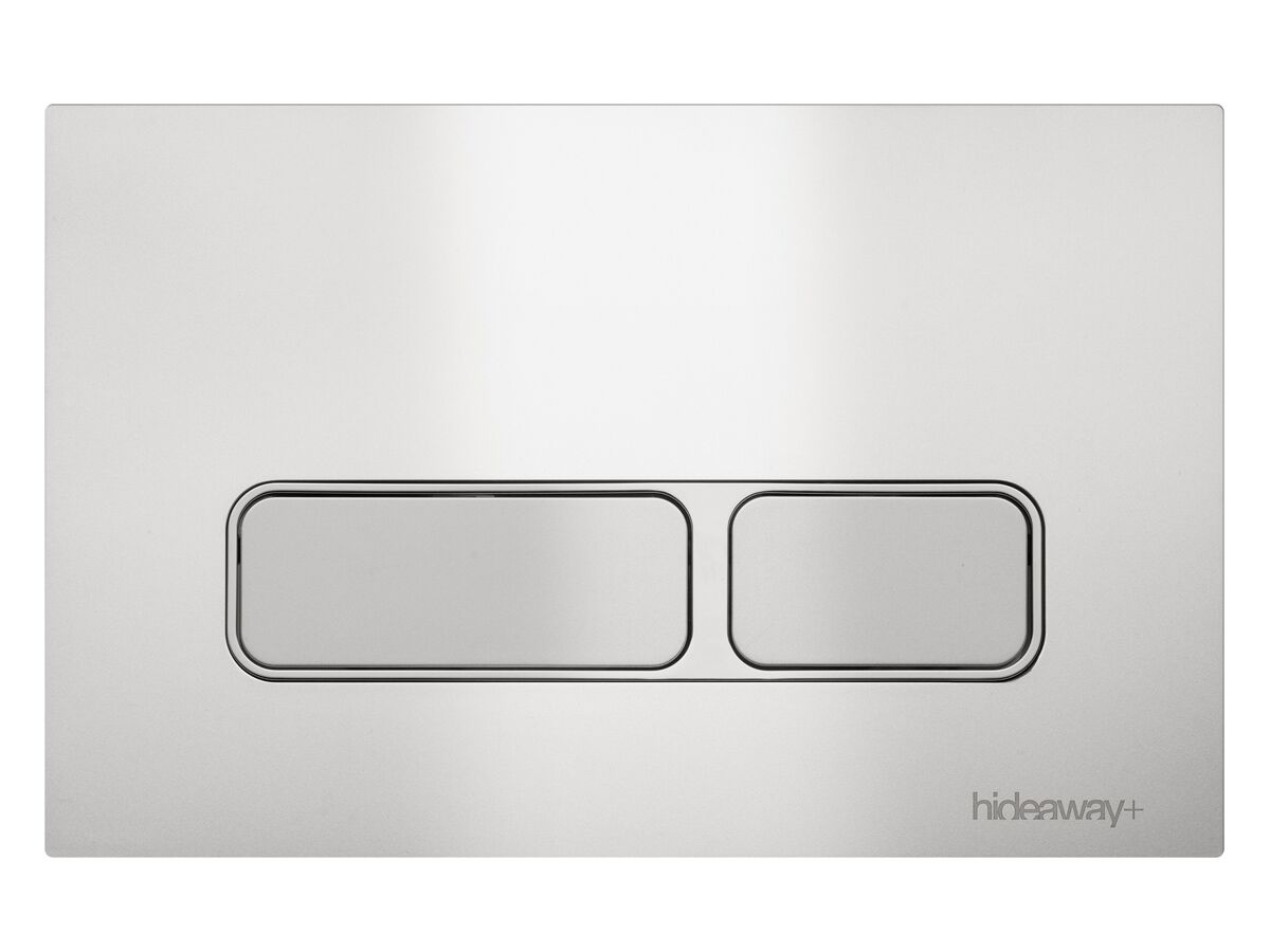 Hideaway+ Rectangle Button/ Plate Inwall ABS Silver