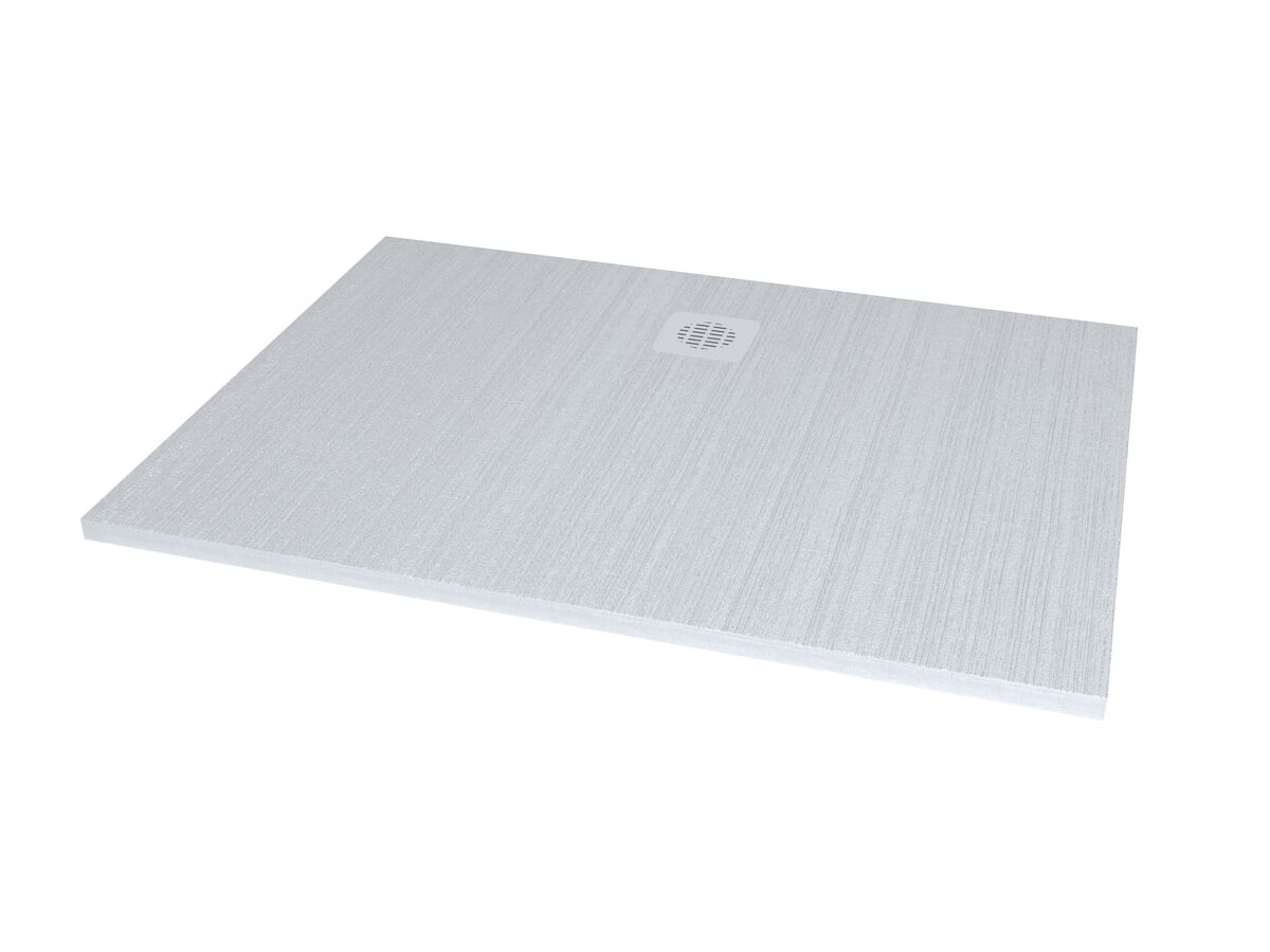 Roca Cyprus Stonex Shower Floor 1200 x 900mm Blanco with Matching Waste