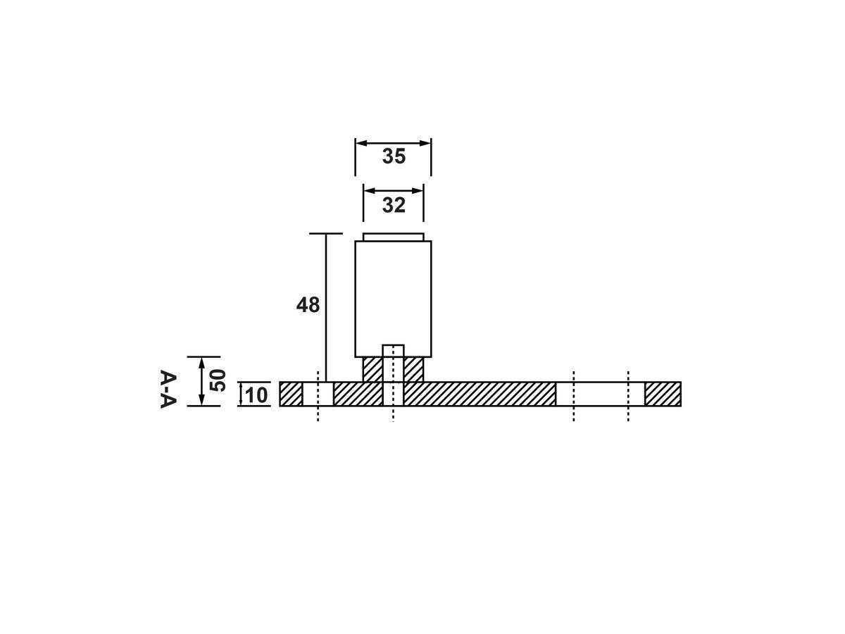 H Type Floor Guide Roller