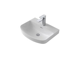 Caroma Forma Inset Vanity Basin 1 Taphole with Overflow