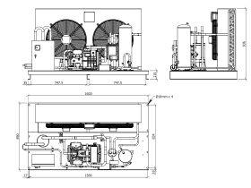 Tecumseh Semi Hermetic EVO Condensing Unit SHT4576ZHR 3 Phase