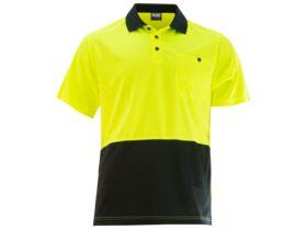 Mak Workwear SS Polo Yellow/Navy S