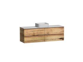 Kado Arc Timber Twin Drawer 1500 Single Bowl Vanity Corian 12mm Top