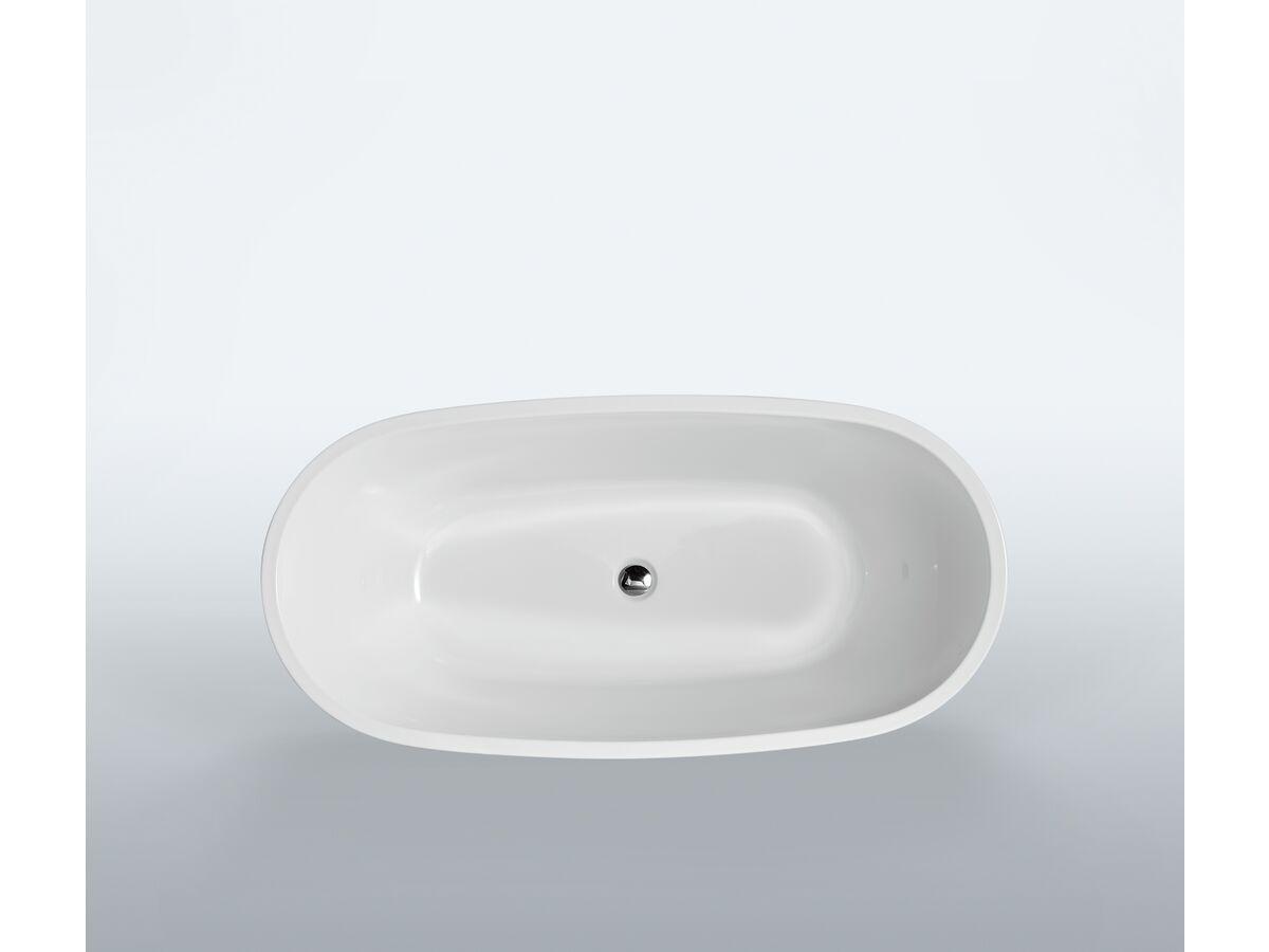 Kado Lux Petite Freestanding Bath 1500mm White