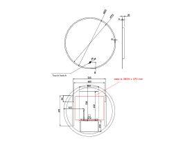 Kado Aspect 800mm Round LED Mirror