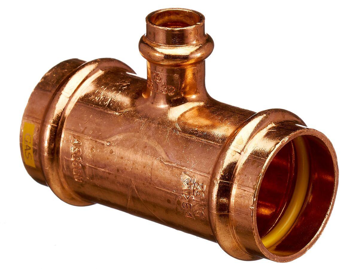 >B< Press Gas Reducing Tee 32mm x 32mm x 15mm