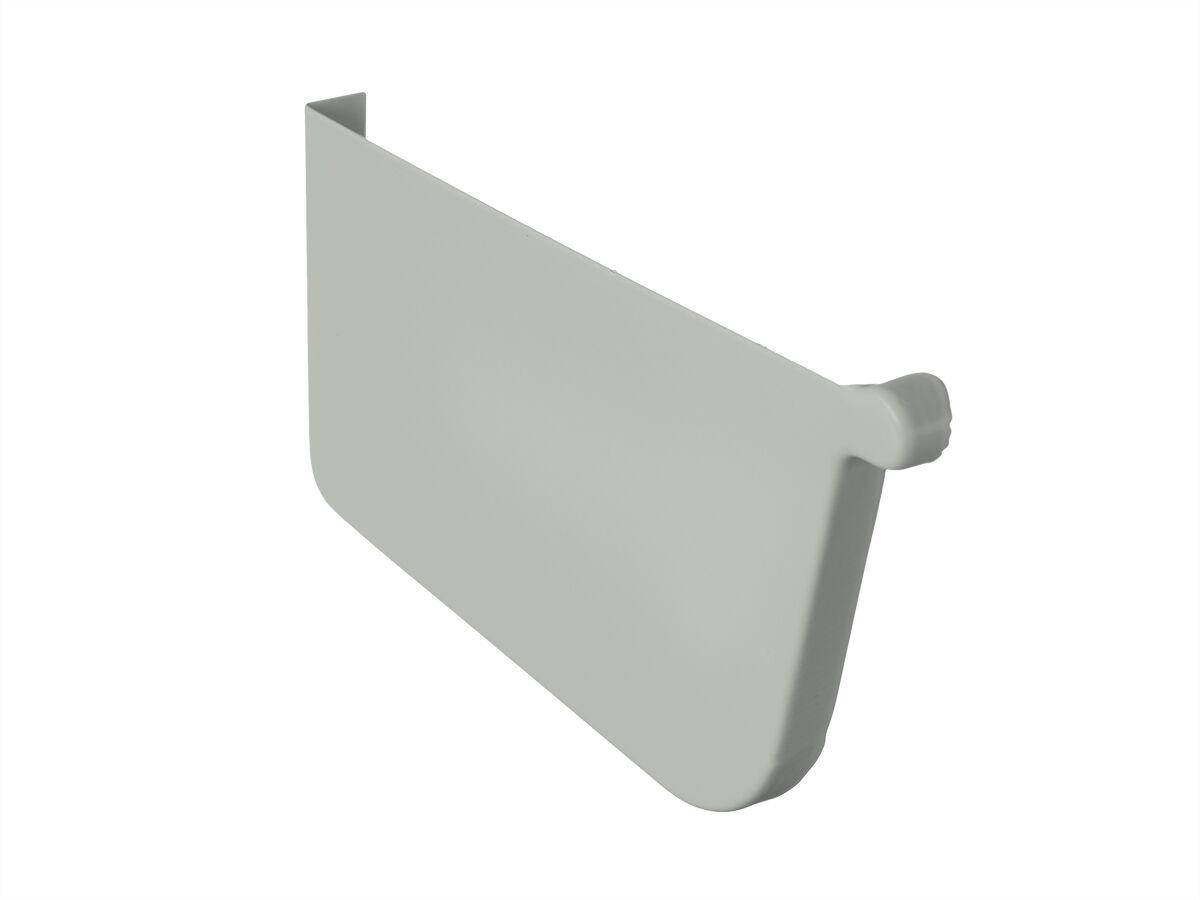 Quad Stop End Plate 115mm Left Hand Shale Grey