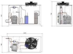 ACPAC Packaged Condensing Unit AP3.9M1-5 1 Phase