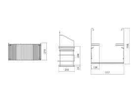 Alape Utensilo Steel Frame for Alape Klassiker Wall Basin Matte Black